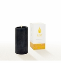 Lucid Liquid Candles -  Black 3x6 Pillar Candle