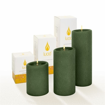 Lucid Liquid Candles Cypress 3x4 Pillar Candle