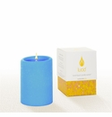 Lucid Liquid Candles -  French Blue 3x4 Pillar Candle