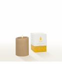 Lucid Liquid Candles -  Khaki 3x4 Pillar Candle