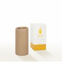Lucid Liquid Candles -  Khaki 3x6 Pillar Candle