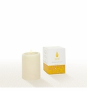 Lucid Liquid Candles -  Natural 3x4 Pillar Candle