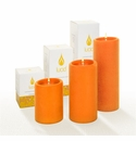 Lucid Liquid Candles Orange 3x8 Pillar Candle