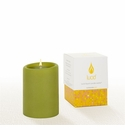 Lucid Liquid Candles -  Pistachio 3x4 Pillar Candle