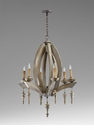 Manning 6 Light Wood Chandelier by Cyan Design