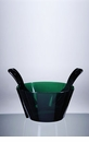 Mario Luca Giusti Acrylic Salad Bowl With Servers Green