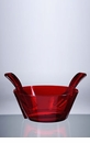 Mario Luca Giusti Acrylic Salad Bowl With Servers Red