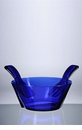 Mario Luca Giusti Acrylic Salad Bowl With Servers Royal Blue