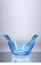 Mario Luca Giusti Acrylic Salad Bowl With Servers Turquoise