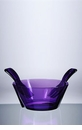 Mario Luca Giusti Acrylic Salad Bowl With Servers Violet