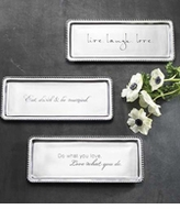 Mariposa Metal Engraved Gift Serving Trays