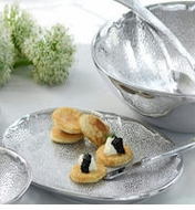 Mariposa Metal Glimmer Serveware Collection