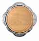 Mariposa Sueno Round Platter with Wood