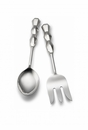 "Mary Jurek Ibiza Vegetable Spoon and Meat Fork Set with Box 10.5"" L"