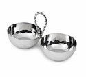 "Mary Jurek Paloma 2-Bowl Set with Braided Wire Handle 9"" L"