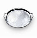 "Mary Jurek Paloma Round Tray Braided Wire and Handles 16.5""D"