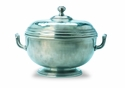 Match Italian Pewter Beaded Round Tureen