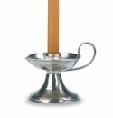 Match Italian Pewter Bedside Candlestick