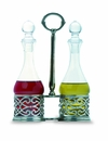 Match Italian Pewter Cutwork Oil and Vinegar Set
