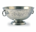 Match Italian Pewter Engraved Deep Footed Bowl