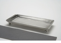 Match Italian Pewter Footed Rectangle Service Tray Small