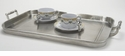 Match Italian Pewter Gallery Tray with Handles