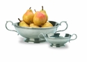 Match Italian Pewter Low Footed Bowl with Handles