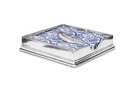Match Italian Pewter Luncheon Napkin Box with Feather Weight