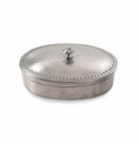 Match Italian Pewter Oval Lidded Box Medium