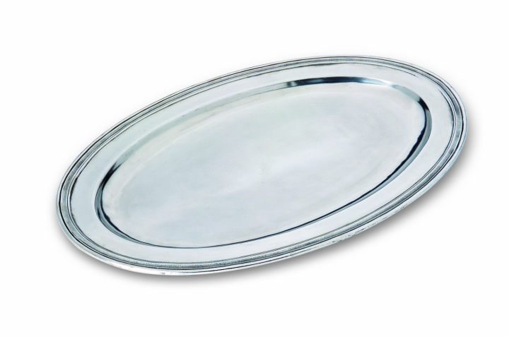 match italian pewter oval platter large