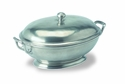 Match Italian Pewter Oval Tureen with Handles