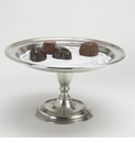 Match Italian Pewter Pedestal Tray Small