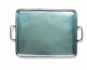 Match Italian Pewter Rectangle Tray with Handles Large
