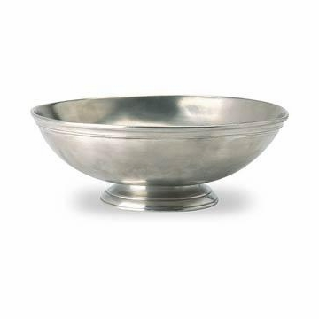Match Italian Pewter Round Footed Centerpiece