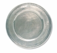 Match Italian Pewter Scribed Rim Charger Plate