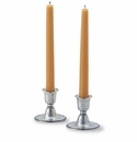 Match Italian Pewter Short Candlestick (Set of 2)