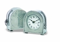 Match Italian Pewter Table Clock