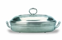 Match Italian Pewter Toscana Pyrex Casserole Dish with Lid