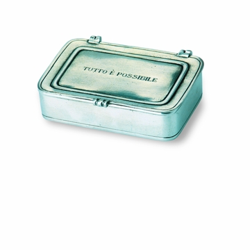 Match Italian Pewter ''Tutto E Possibile'' Box Large