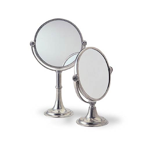 Matching Vanity Light And Mirror : Match Italian Pewter Vanity Mirror High