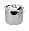 Mauviel Mcook Stainless Steel Cast Stainless Handled stock pot 24 cm Covered