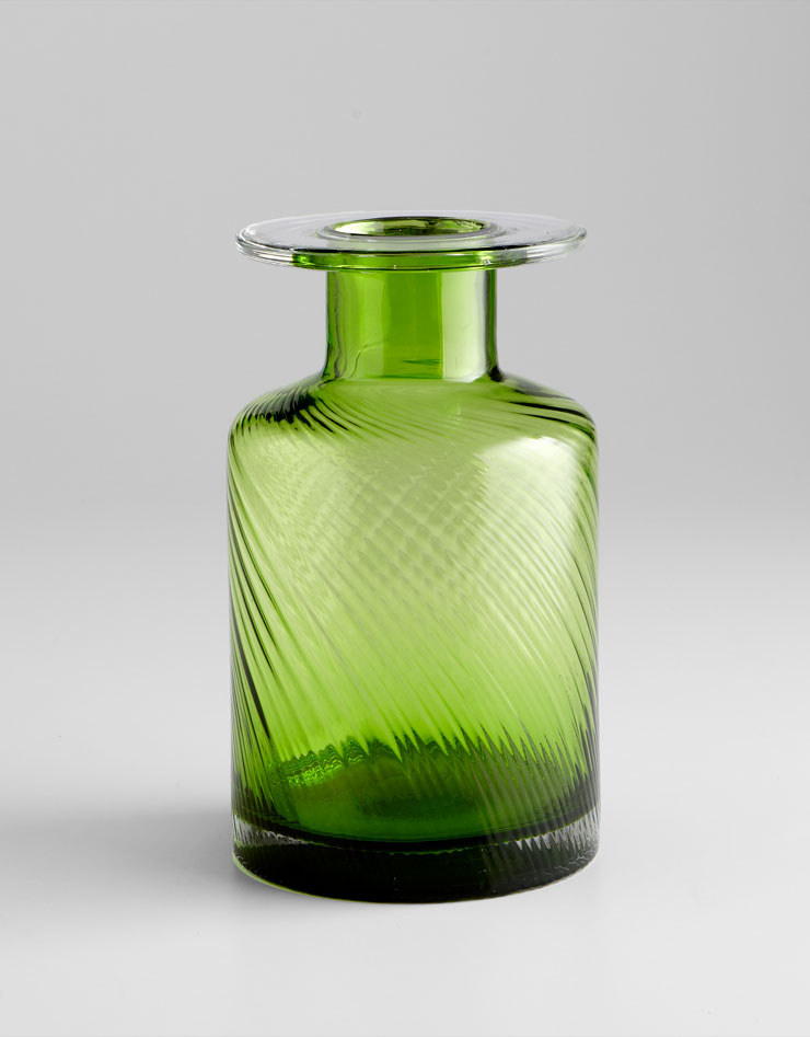 medium apothecary green glass vase by cyan design. Black Bedroom Furniture Sets. Home Design Ideas