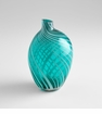 Medium Aqua Swirl Prague Vase by Cyan Design