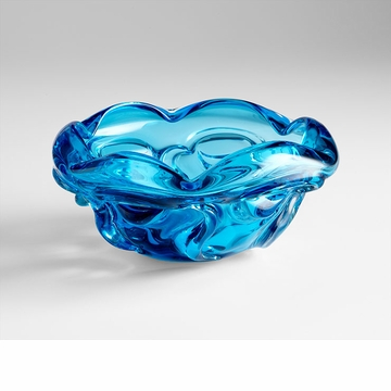 Medium Blue Water Pod Art Glass Bowl by Cyan Design