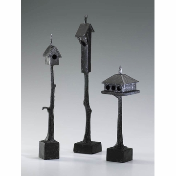 Medium Bronzed Iron Bird House (Small and Large Birdhouse are Sold Separately)