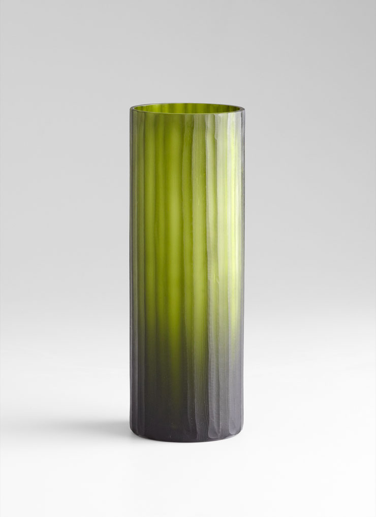 medium cee lo green glass vase by cyan design. Black Bedroom Furniture Sets. Home Design Ideas