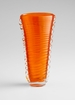Medium Orange Clear Dollie Glass Vase by Cyan Design