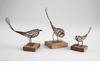 Medium Rustic Iron & Wood Bird Sculpture by Cyan Design