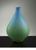Medium Vizio Blue Green Glass Vase by Cyan Design