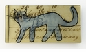 Mennonite Blue Cat Rectangular Decorative Glass Plate by Working Title